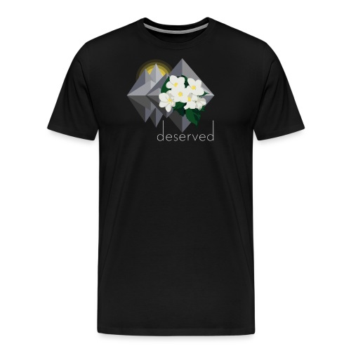 Deserved - EP logo with text - Premium-T-shirt herr