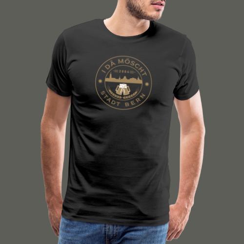 Logo Braun - Männer Premium T-Shirt