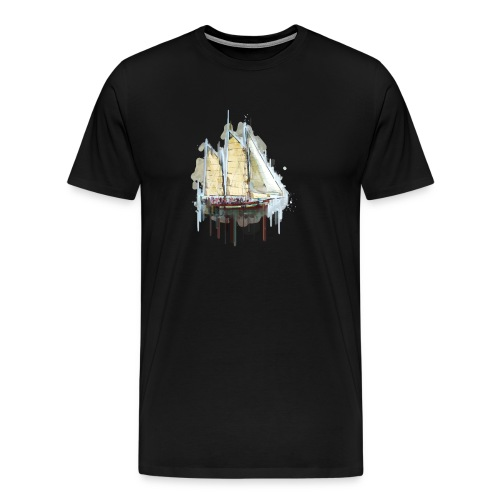 Disolved Sail Boat - Men's Premium T-Shirt