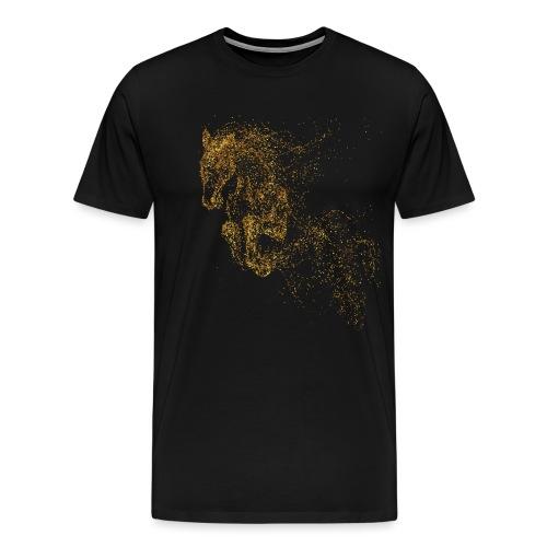 Vorschau: jumping horse gold - Männer Premium T-Shirt
