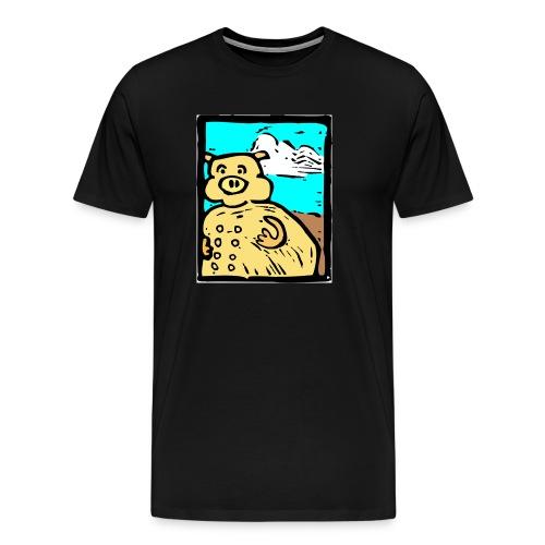 vark color - Mannen Premium T-shirt