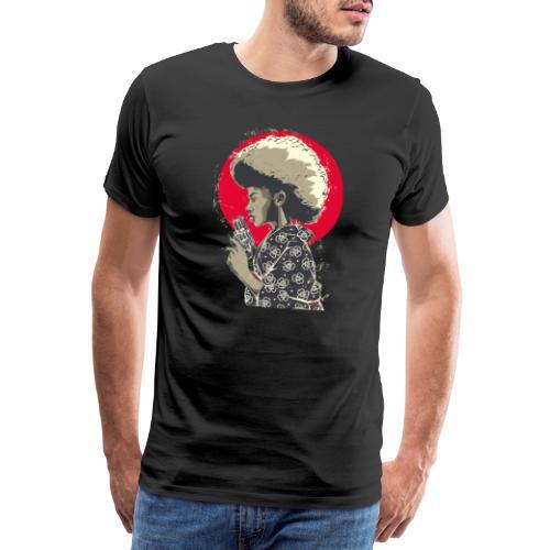 Afro Gun - Maglietta Premium da uomo