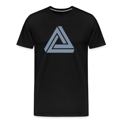 Tribar Dreieck, Unmögliche Figur Optische Illusion - Männer Premium T-Shirt