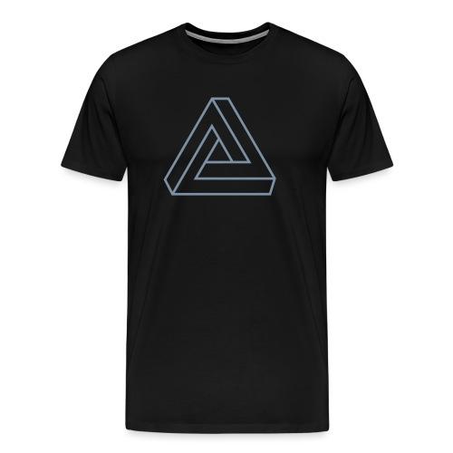 Penrose Dreieck Unmögliche Figur, Illusion, Escher - Männer Premium T-Shirt