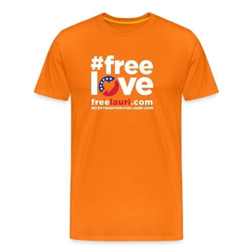 freeloveblack01 - Men's Premium T-Shirt