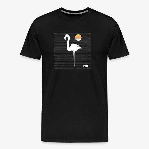 fenicottero righe f - Maglietta Premium da uomo