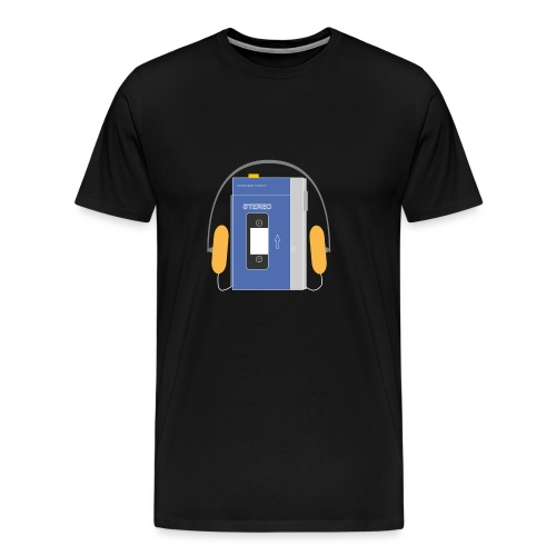 Stereo walkman in blue - Men's Premium T-Shirt