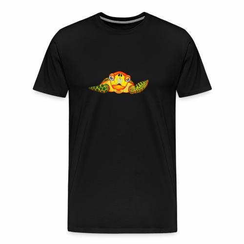 Boze Turtle Fluo - Mannen Premium T-shirt