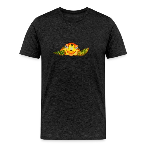 Angry Turtle Fluo - T-shirt Premium Homme