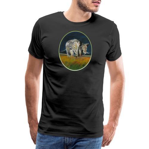 Savannen-Elefanten in Afrika - Männer Premium T-Shirt