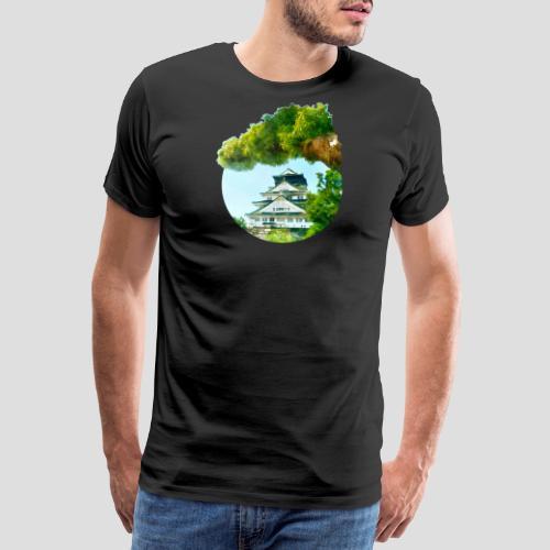 Osaka Castle gemalt - Männer Premium T-Shirt