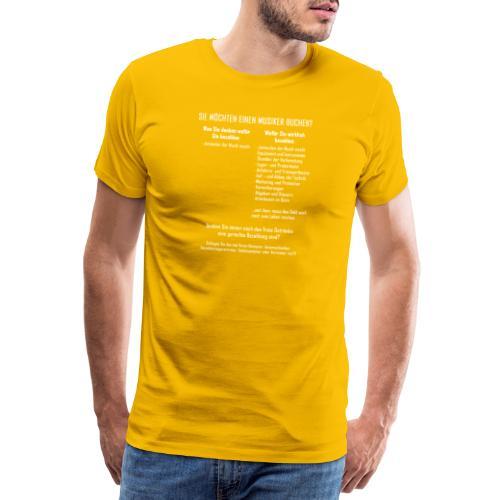 Musiker buchen - Männer Premium T-Shirt