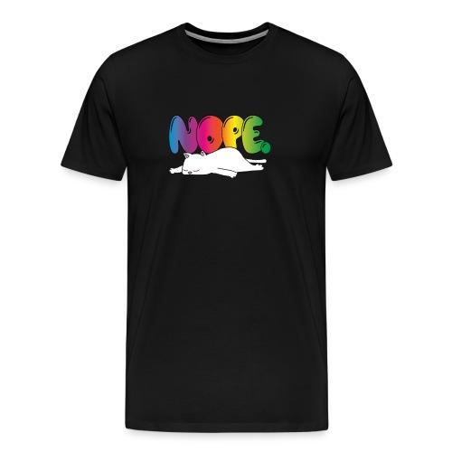 Katzenmotiv Lustig Fun Bunt Regenbogen Spruch NOPE - Männer Premium T-Shirt
