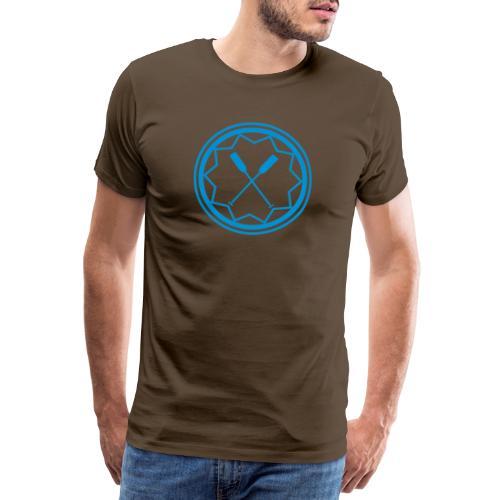 Drachenboot Kanu Outrigger Emblem Paddel 1c - Männer Premium T-Shirt