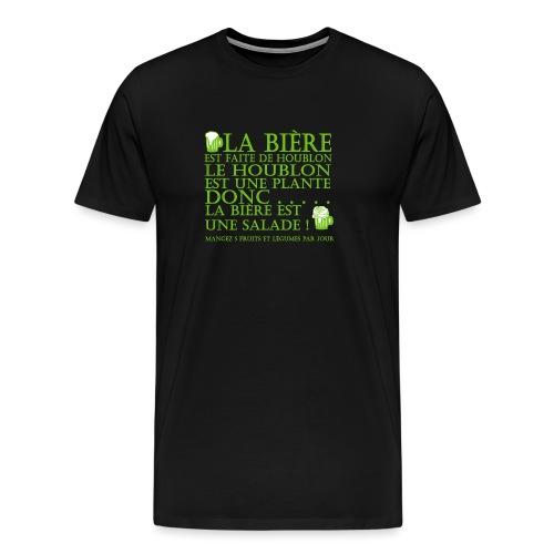 la bière est ... une salade ! - T-shirt Premium Homme