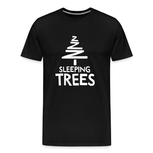 SleepingTrees White png - Men's Premium T-Shirt