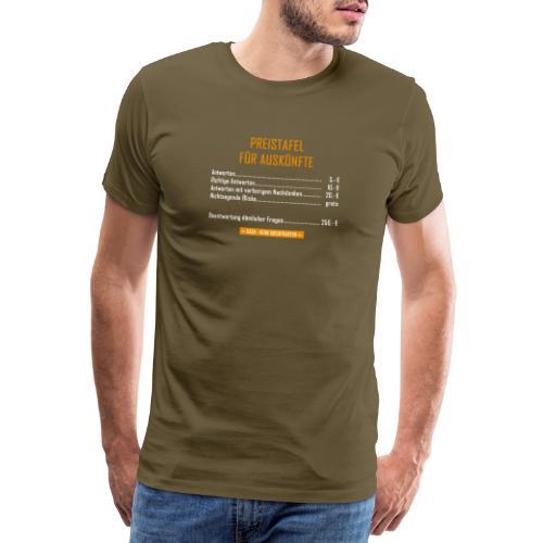 Preistafel für Auskünfte - Männer Premium T-Shirt