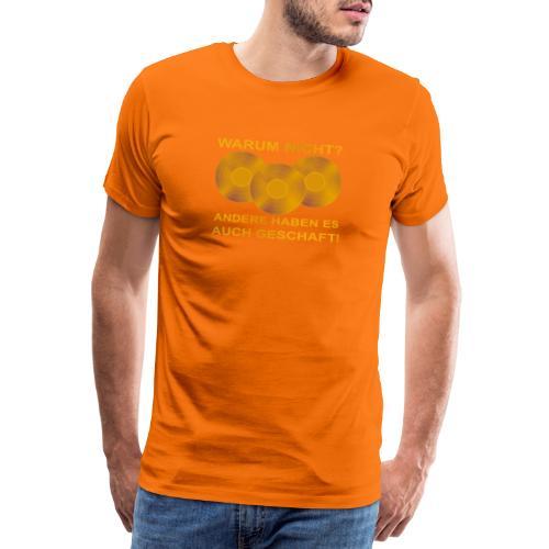 Goldene Schallplatte - Männer Premium T-Shirt