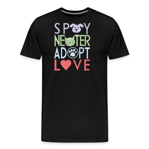 Spay, neuter, adopt, love - Männer Premium T-Shirt