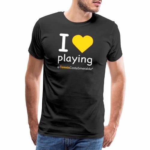 Tennis Costa Smeralda Yellow Dark Summer 2019 - Maglietta Premium da uomo