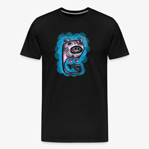 spacebat #1 Blue - Männer Premium T-Shirt
