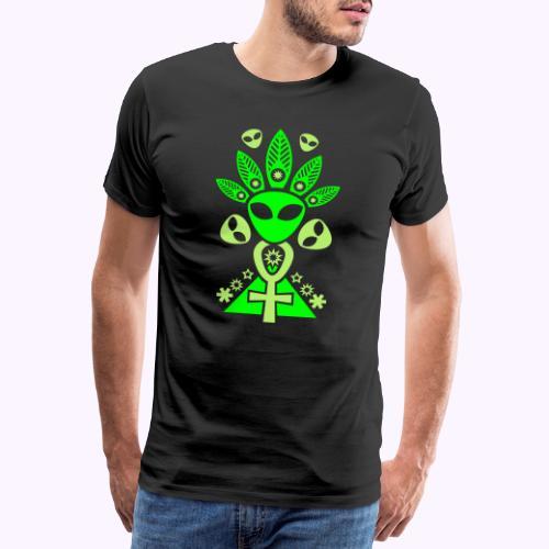 Ankhmania Glow - Miesten premium t-paita