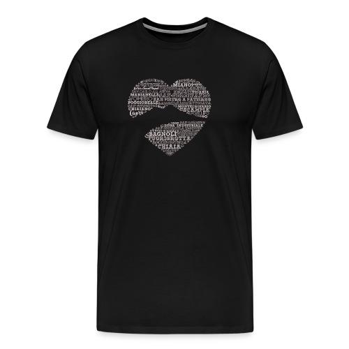 cuordinapoli black - Maglietta Premium da uomo