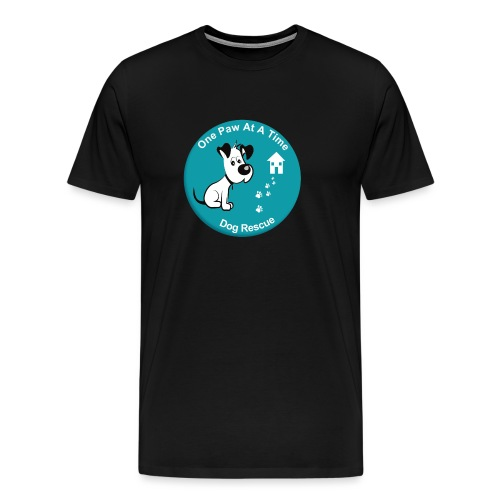 One Paw at a Time Logo - Men's Premium T-Shirt