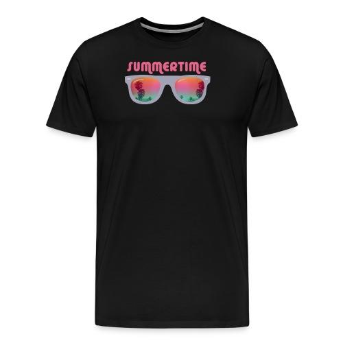 summertime sunglasses - Koszulka męska Premium