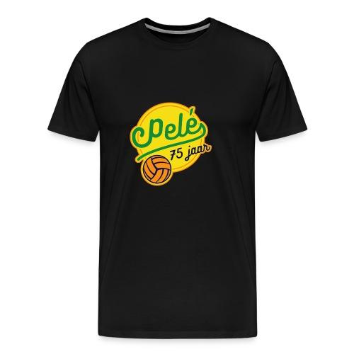 Logo 75 jaar Pelé - Mannen Premium T-shirt