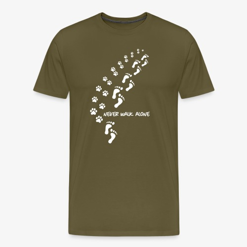 never walk alone dog - Männer Premium T-Shirt