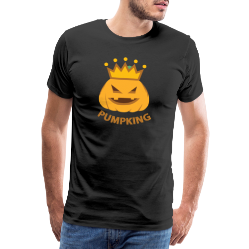 Kürbis König   Kürbisgesicht Krone Halloween - Männer Premium T-Shirt