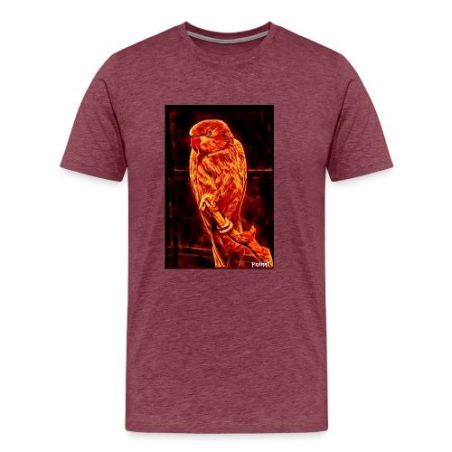 Bird in flames - Miesten premium t-paita