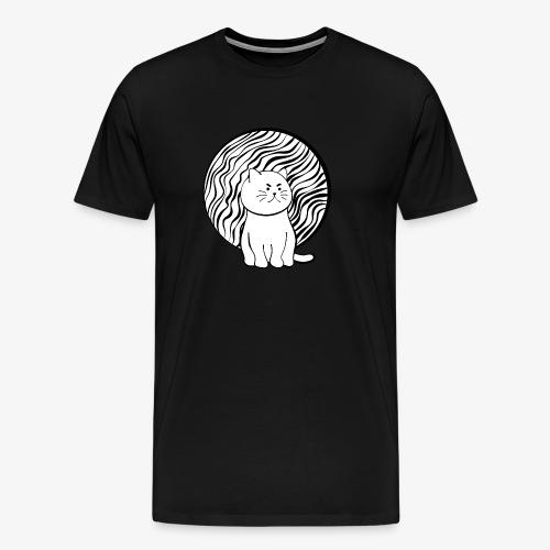Happy Cat in White - Männer Premium T-Shirt