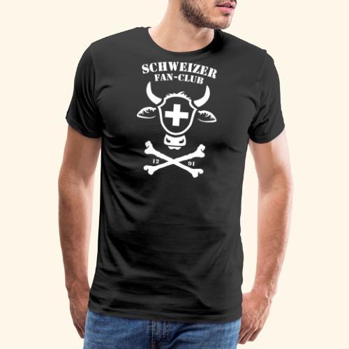 FUSSBALL SCHWEIZER FAN-CLUB, HOPP SCHWIIZ, T-SHIRT - Männer Premium T-Shirt