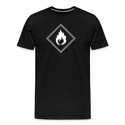 Achtung Brandgefahr / Feuer / leicht entzündlich - Männer Premium T-Shirt