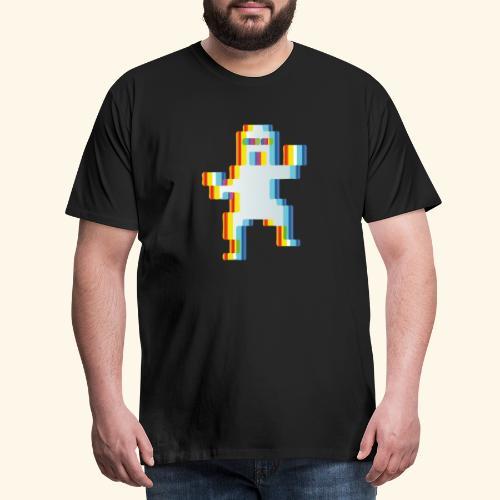 80's party glitch - Men's Premium T-Shirt