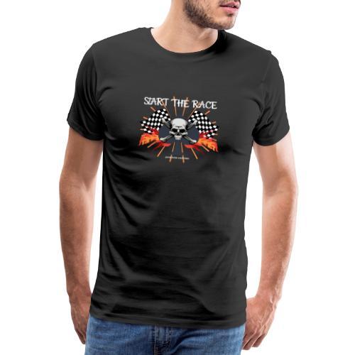 start the race, biker, bobber, skull, motorrad, HD - Männer Premium T-Shirt