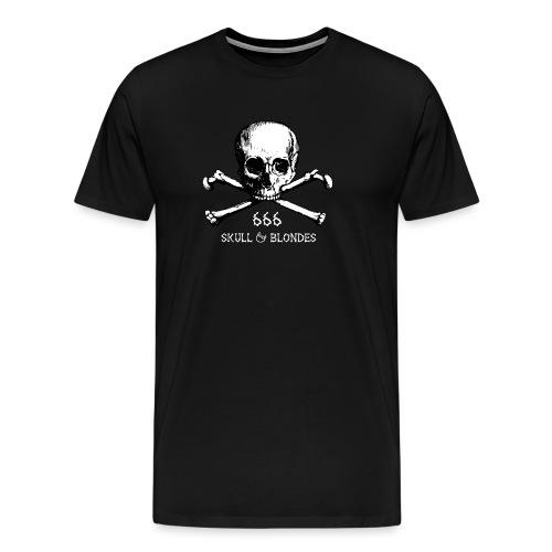 skull & blondes (white) - Männer Premium T-Shirt