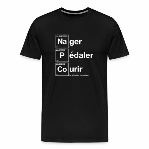 Nager Pédaler Courir Tableau Périoque - T-shirt Premium Homme