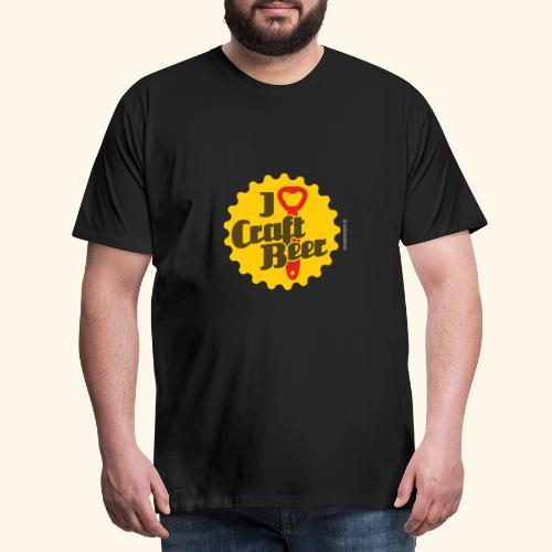Craft Beer T-Shirt Design I Love Craft Beer - Männer Premium T-Shirt