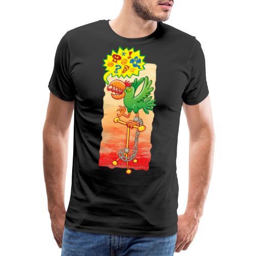 Furious parrot saying bad words - Men's Premium T-Shirt