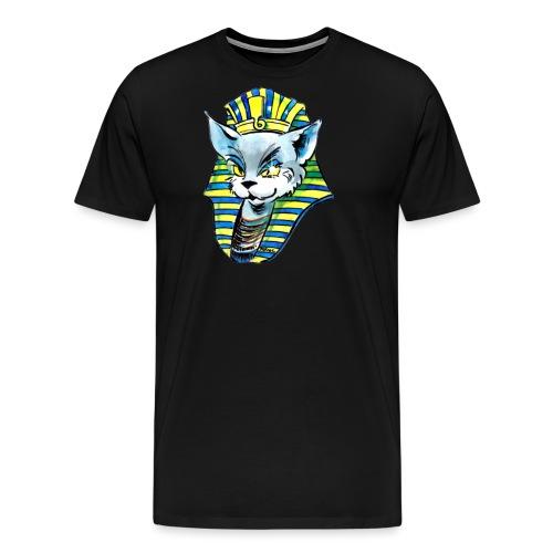 Die Katze als Pharao - Männer Premium T-Shirt