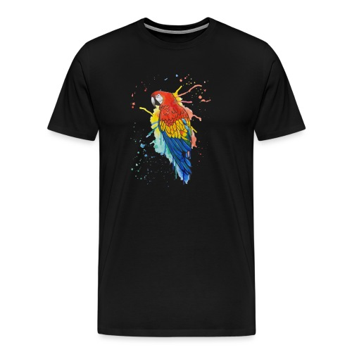 Parrot Watercolors Nadia Luongo - Maglietta Premium da uomo