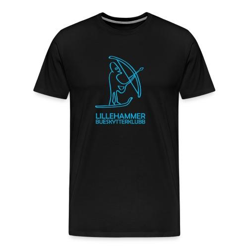 lbsk logo kvadrat blaa outline png - Premium T-skjorte for menn