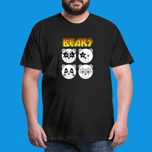 Kiss Bears square.png - Men's Premium T-Shirt