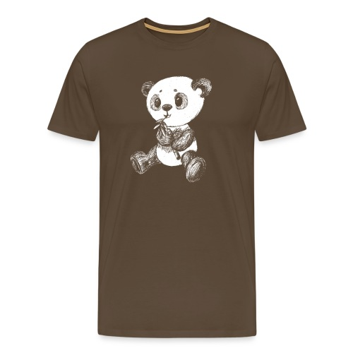 Panda bjørn hvid scribblesirii - Herre premium T-shirt