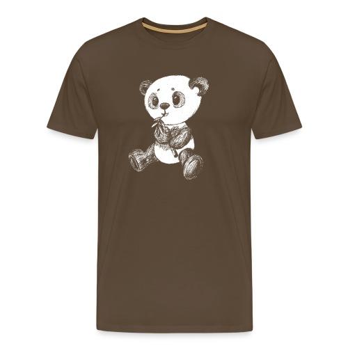 Panda Karhu valkoinen scribblesirii - Miesten premium t-paita