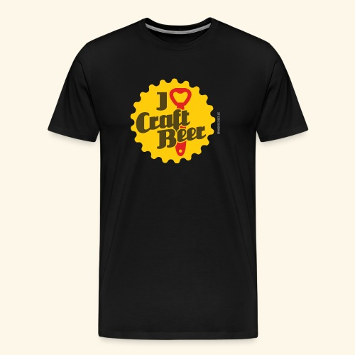 Craft Beer T-Shirt Design I Love Craft Beer - Männer Premium T-Shirt