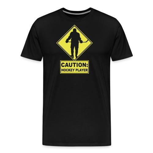 CAUTION: Hockey Player - Men's Premium T-Shirt
